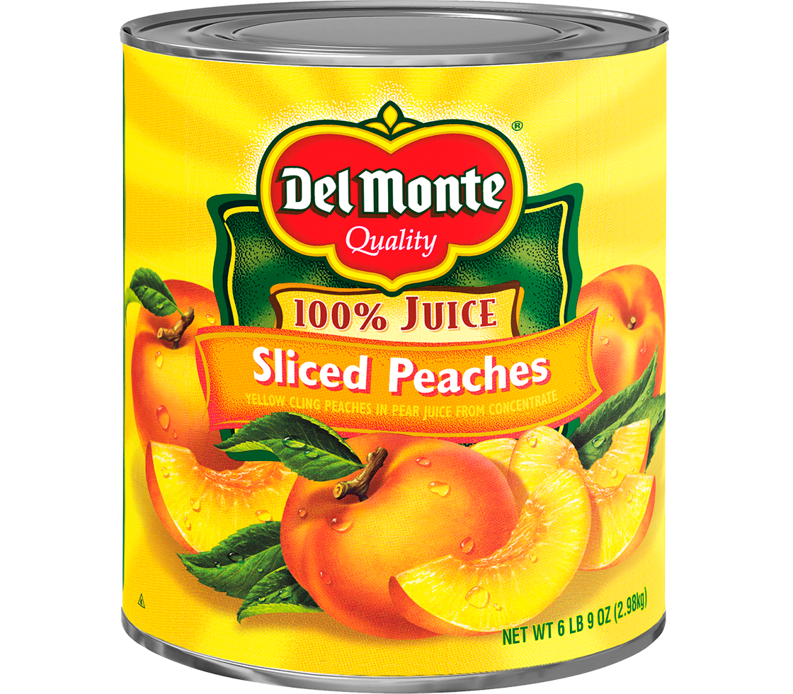 Del Monte® Sliced Yellow Cling Peaches in Pear Juice from Concentrate