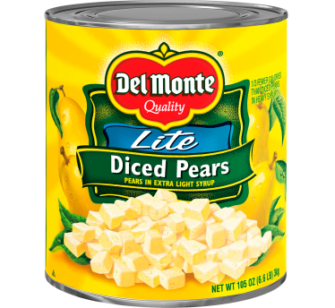 Del Monte® Lite Diced Pears in Extra Light Syrup