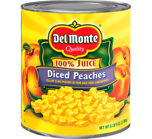Del Monte® Diced Yellow Cling Peaches in Pear Juice from Concentrate