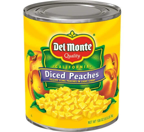 Del Monte® Diced Yellow Cling Peaches in Light Syrup