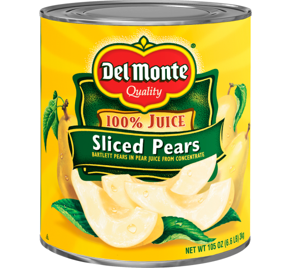 Del Monte® Sliced Bartlett Pears in Pear Juice from Concentrate