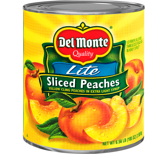 Del Monte® Lite Sliced Yellow Cling Peaches in Extra Light Syrup
