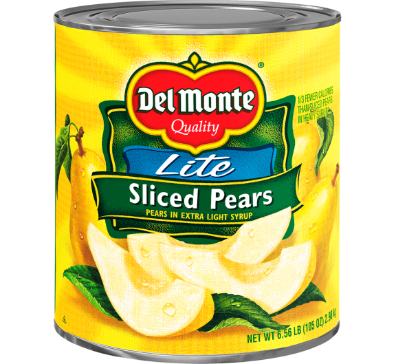 Del Monte® Lite Sliced Pears in Extra Light Syrup