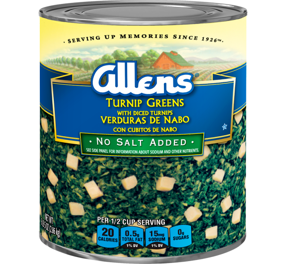 Allens® Turnip Greens with Diced Turnips - No Salt Added