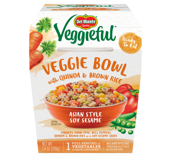 Veggieful™ Veggie Bowls Asian Style Soy Sesame with Quinoa & Brown Rice