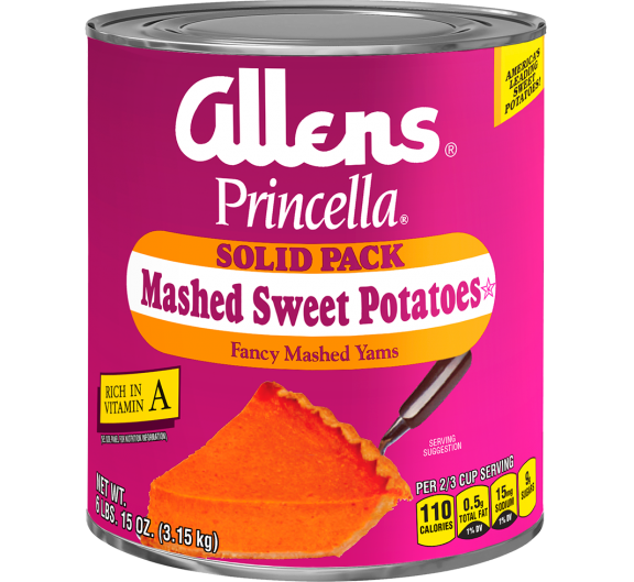 Allens® Princella® Solid Pack Mashed Sweet Potatoes
