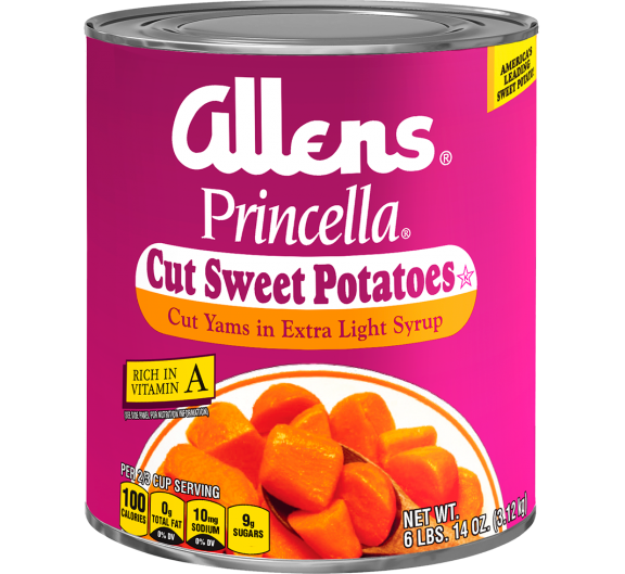 Allens® Princella® Cut Sweet Potatoes in Extra Light Syrup