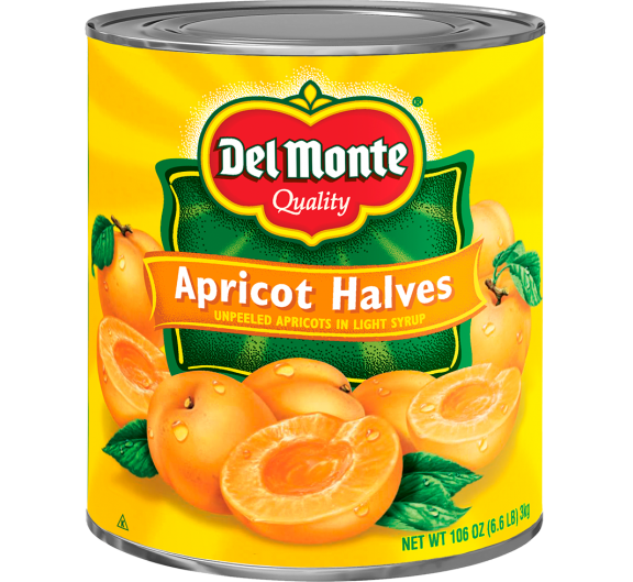 Del Monte® Unpeeled Apricot Halves in Light Syrup