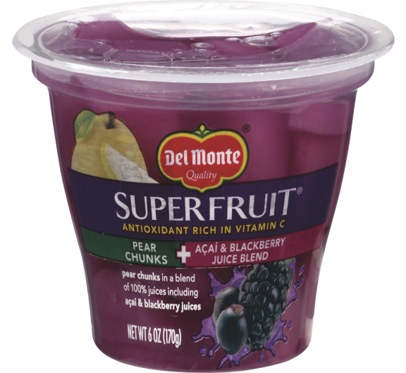 Del Monte Superfruit® Pear Chunks in Acai & Blackberry Juice Blend