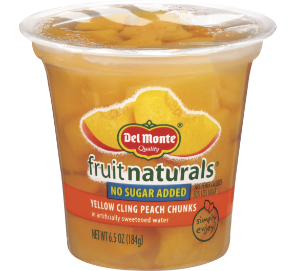 Del Monte® Fruit Naturals® No Sugar Added Yellow Cling Peach Chunks