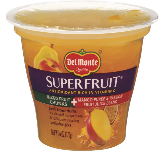 Del Monte Superfruit® Mixed Fruit Chunks in Mango Puree & Passion Fruit Juice Blend