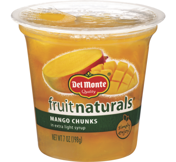 Del Monte® Fruit Naturals® Mango Chunks in Extra Light Syrup