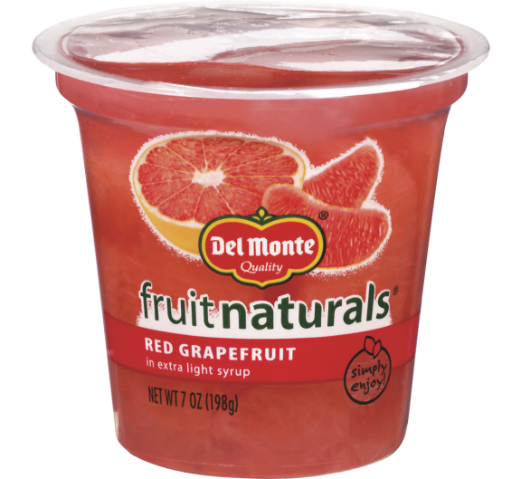 Del Monte® Fruit Naturals® Red Grapefruit in Extra Light Syrup