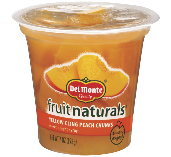Del Monte® Fruit Naturals® Yellow Cling Peach Chunks in Extra Light Syrup