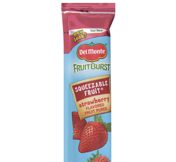 Del Monte® Fruit Burst® Squeezable Fruit Strawberry Flavored Fruit Tubes