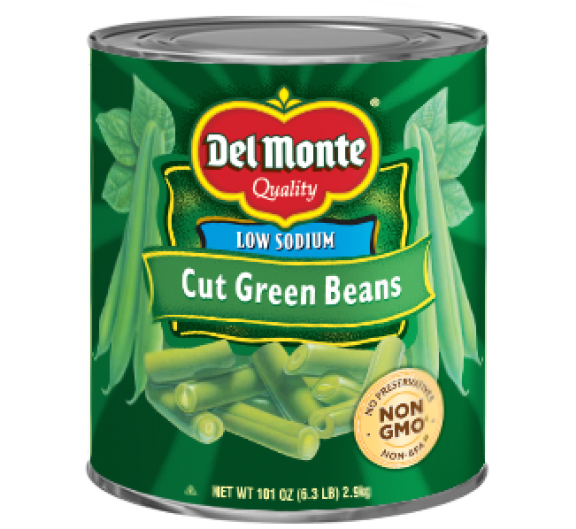 Del Monte® Low Sodium Cut Green Beans