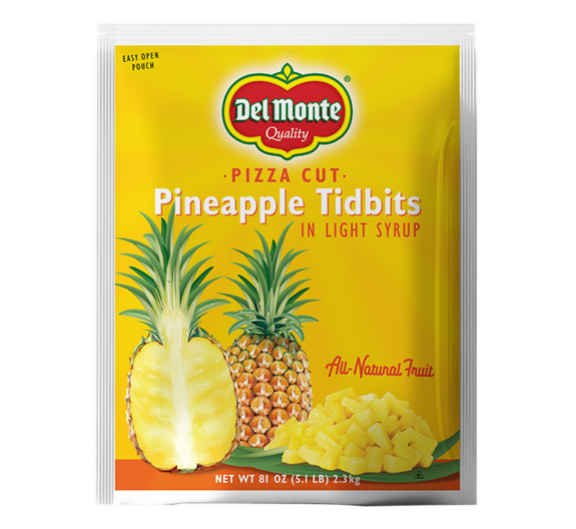 Pineapple Tidbits Light Syrup Pouch